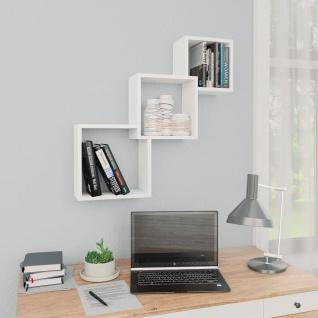 vidaXL Cube Wandregale Weiß 84, 5ß15ß27 cm Spanplatte