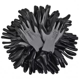 vidaXL Arbeitshandschuhe Nitril 24 Paar grau und schwarz Gr. 8/M - Vorschau 4