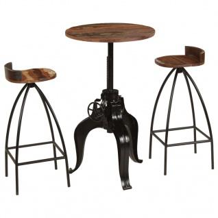 vidaXL Bar-Set 3-tlg. Recyclingholz Massivholz