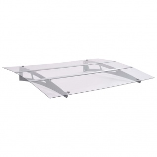 vidaXL Haustürvordach Sibern und Transparent 120×90 cm Polycarbonat