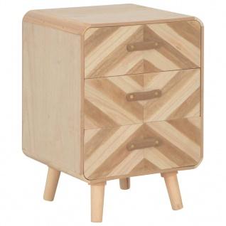 vidaXL Nachttisch mit 3 Schubladen 40×35×56, 5 cm Massivholz