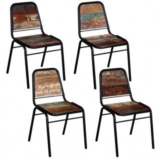vidaXL Esszimmerstühle 4 Stk. Recyceltes Massivholz 44 x 59 x 89 cm