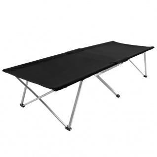 vidaXL Campingbett 206 x 75 x 45 cm XXL Schwarz