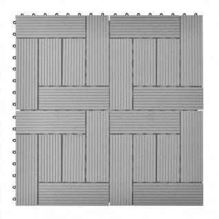 Graue Terrassenfliesen 11 Stk. 30 x 30 cm WPC 1 qm