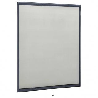 vidaXL Insektenschutzrollo für Fenster Anthrazit 150x170 cm