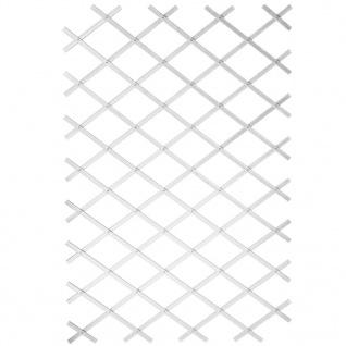 Nature Garten-Rankgitter 100x200 cm PVC Weiß 6040703