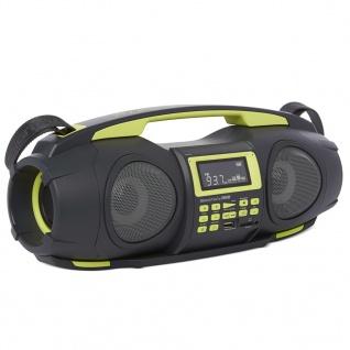 Nikkei Tragbare Boombox mit MP3 Fatboy NGB3601GN 2×5 W Grün