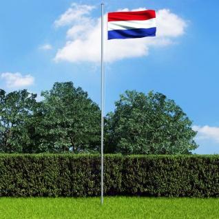 vidaXL Niederländische Flagge und Mast Aluminium 6, 2 m