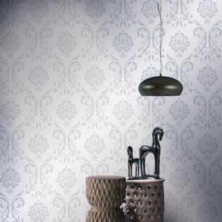 vidaXL Tapetenrollen Vlies 4 Stk. Weiß 0, 53×10 m Ornament