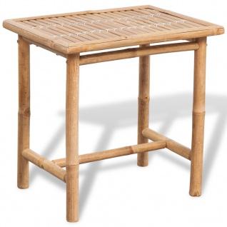 vidaXL Bistro-Set mit Beistelltisch und Sitzkissen Bambus - Vorschau 2