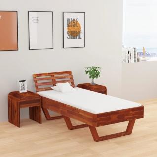 vidaXL Bettgestell Akazie Massivholz 100 × 200 cm