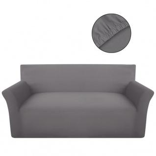 Sofahusse Sofabezug Stretchhusse Baumwoll-Jersey Grau