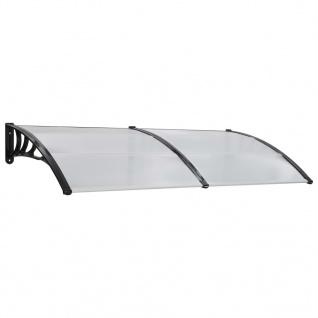 vidaXL Türvordach Weiß 200x100 cm Kunststoff