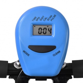 vidaXL Magnetischer Heimtrainer X-Bike mit Pulsmessung Schwarz Blau - Vorschau 5
