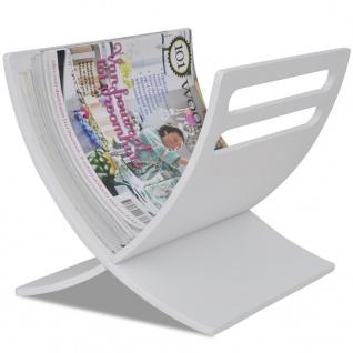 vidaXL Zeitschriftenhalter Holz Weiß