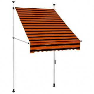 vidaXL Einziehbare Markise Handbetrieben 100 cm Orange und Braun