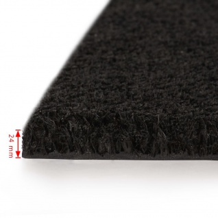 vidaXL Fußmatten 2 Stk. Kokosfaser 24 mm 50 x 80 cm Schwarz - Vorschau 3
