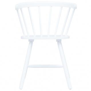 vidaXL Esszimmerstühle 2 Stk. Weiß Gummiholz Massiv - Vorschau 3