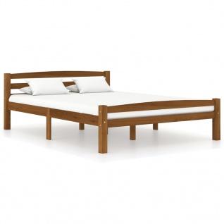 vidaXL Bettgestell Honigbraun Massivholz Kiefer 140x200 cm
