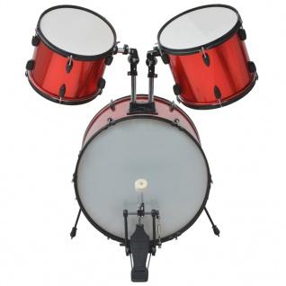 vidaXL Schlagzeug Komplettset Pulverbeschichteter Stahl Rot Erwachsene - Vorschau 3