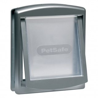 PetSafe 2-Wege-Haustierklappe 757 Mittelgroß 26, 7x22, 8 cm Silber 5022
