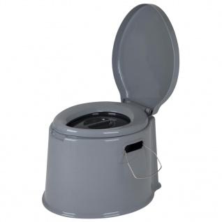 Bo-Camp Tragbare Toilette 7 L Grau