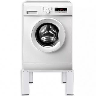 vidaXL Waschmaschinensockel Weiß - Vorschau 2