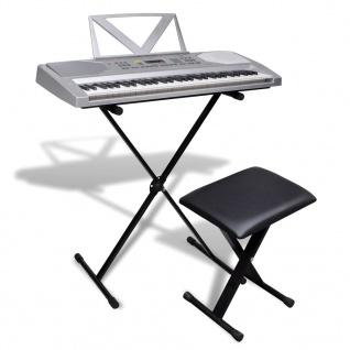 Elektronisches Keyboard 61-Tasten mit Keyboardständer und Sitzhocker
