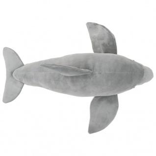 vidaXL Delphin Kuscheltier Plüsch Grau - Vorschau 4