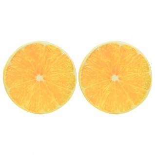 vidaXL Kissen 2 Stk. Fruchtoptik Orange