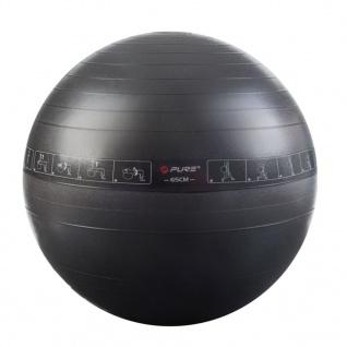 Pure2Improve Gymnastikball 65 cm Schwarz
