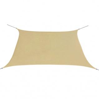 vidaXL Sonnensegel Oxford Gewebe Quadratisch 3, 6 x 3, 6 m Beige