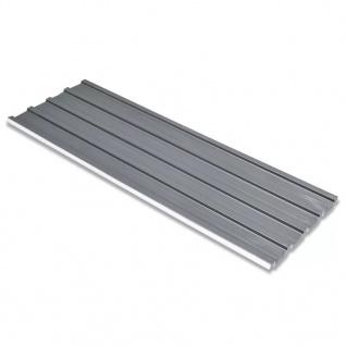 vidaXL Dachpaneele 12 Stück Verzinkter Stahl Grau