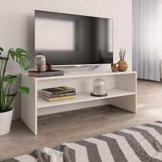 vidaXL TV-Schrank Weiß 100 x 40 x 40 cm Spanplatte