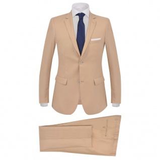 vidaXL Herren-Anzug 2-tlg. Größe 52 Beige