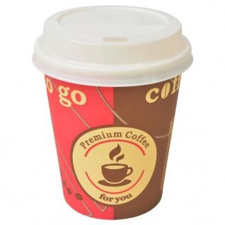 vidaXL 1000 Stk. Einweg-Kaffeebecher mit Deckel 240 ml (8 oz)