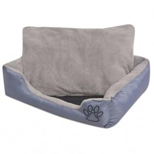 vidaXL Hundebett mit gepolstertem Kissen Größe M Grau