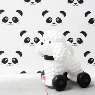 Fabulous World Tapete Panda Weiß 67100