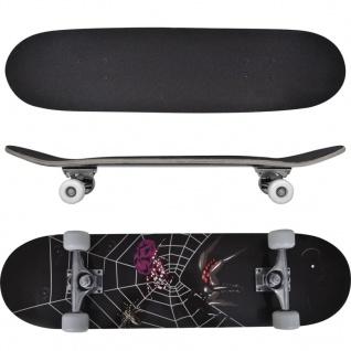 """vidaXL Ovales Skateboard 9-lagiges Ahornholz Spinnen-Design 8"""""""