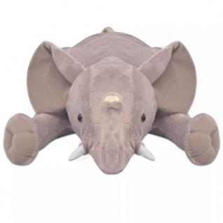 vidaXL Kuscheltier Elefant XXL 120 cm - Vorschau 3