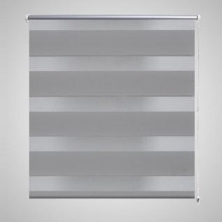 Doppelrollo Seitenzug 80 x 150 cm grau