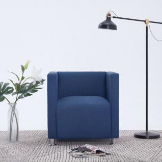 vidaXL Würfel-Sessel Blau Stoff