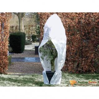 Nature Wintervlies mit Reißverschluss 70 g/m² Weiß 2, 5×2, 5×3 m