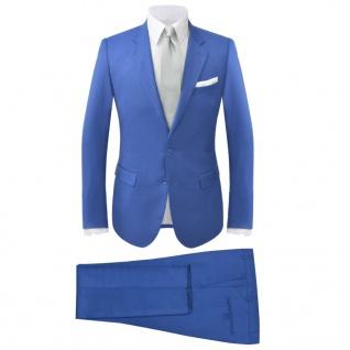 vidaXL 2-tlg. Herren-Anzug Königsblau Größe 48