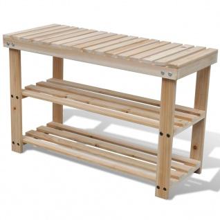 2-in-1 Holz Schuhregal Schuhablage mit Bank