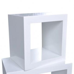 Dekorative Würfelregal Wandregal (3er Set) Weiß - Vorschau 5
