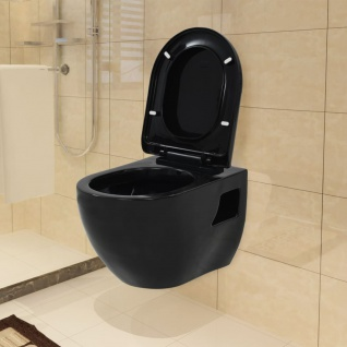 vidaXL Wand-WC Keramik Schwarz - Vorschau 1