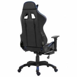 vidaXL Gaming-Stuhl mit Fußstütze Blau Kunstleder - Vorschau 5