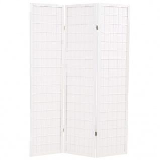 vidaXL 3-tlg. Raumteiler Japanischer Stil Klappbar 120 x 170 cm Weiß