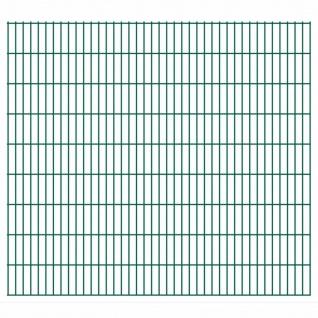 vidaXL 2D Gartenzaun-Elemente 2, 008x1, 83 m Gesamtlänge 46 m Grün